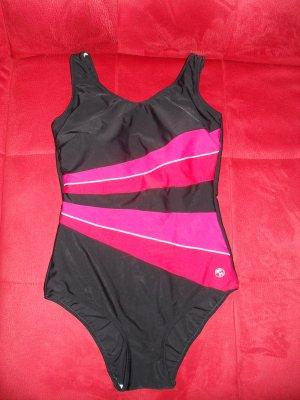 Zwempak magenta-zwart