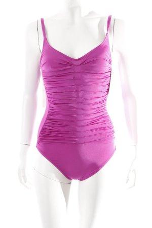 Costume da bagno rosa stile atletico