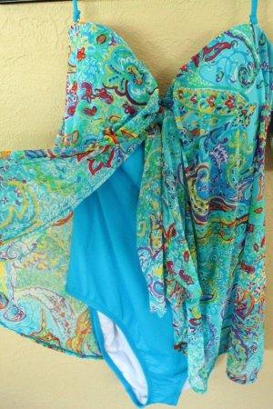 Badeanzug Ralph Lauren Blau Gr 34 36 DE 6 US NEU  Badeanzug Kleid