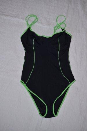 Badeanzug * schwarz-grün * 40 C * Sun-Club * mit Bügel