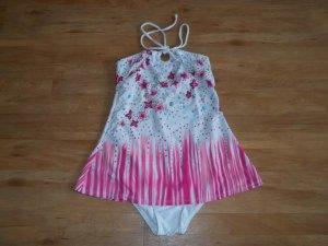 Badeanzugkleid in Gr. 34 bunt mit Blumen Badekleid -> NEU