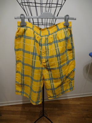 H&M Swimming Trunk yellow-neon blue cotton