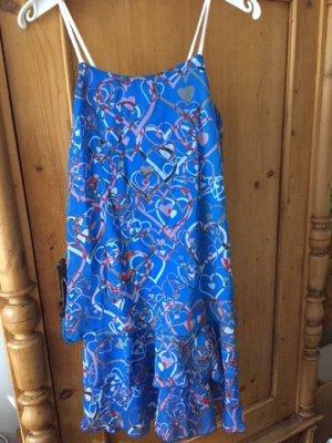 Lavand Vestido playero azul poliamida