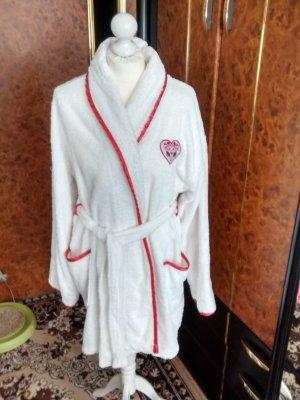 B. Deluxe Peignoirs de bain blanc-rouge