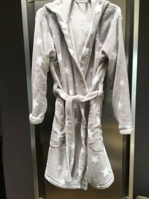 H&M Bathrobe grey-white mixture fibre