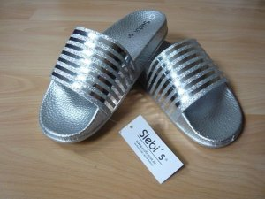 Zomerschoenen met hak zilver Synthetisch