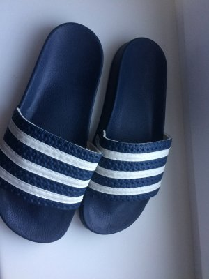 Adidas Originals Sandals dark blue-white synthetic