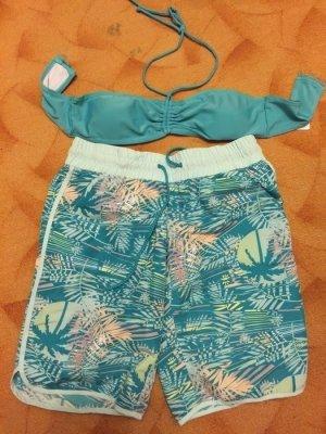 Only Bikini turquoise-bleu fluo