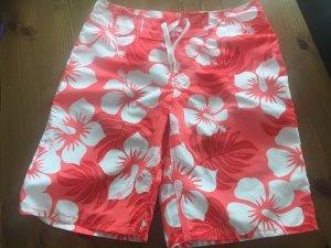 H&M Shorts de bain blanc-rouge clair