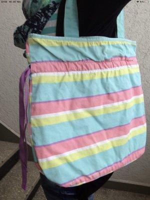 Badetasche SIX türkis, rosa, gelb, weiß
