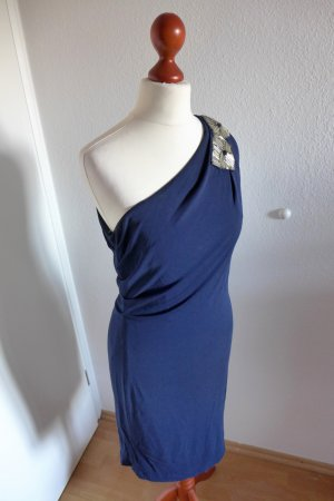 Badgley Mischka Kleid Pailletten Party blau Gr.36