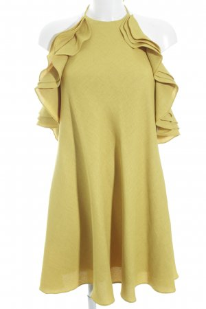 Badgley Mischka Abito con corpetto giallo scuro elegante
