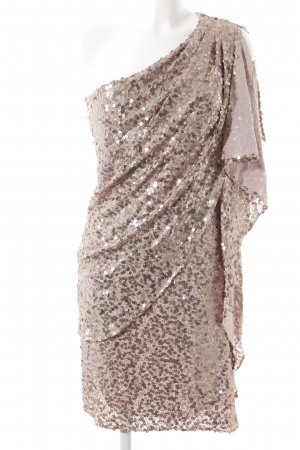 Badgley Mischka Sequin Dress dusky pink elegant