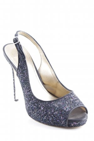 Badgley Mischka Peep Toe Pumps donkerblauw elegant