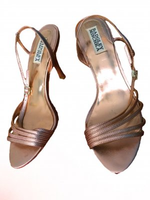 Badgley Mischka Sandaletto con tacco alto color oro rosa