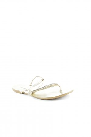 Badgley Mischka Zehentrenner-Sandalen goldfarben-silberfarben Beach-Look