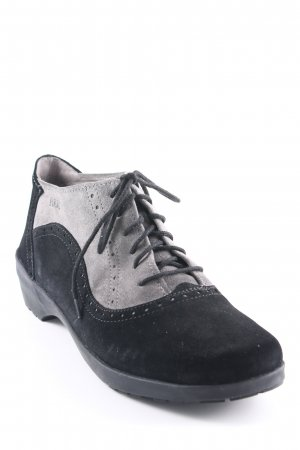 Bär Zapatos brogue negro-gris look casual