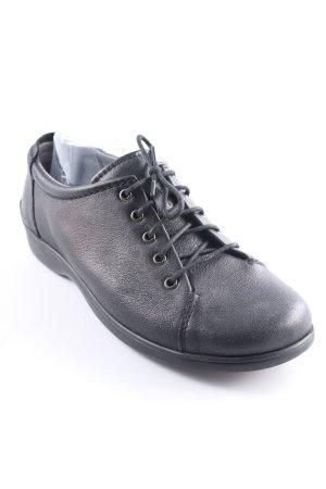 Bär Schnürschuhe schwarz schlichter Stil