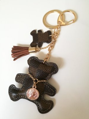 Key Chain gold-colored-brown imitation leather