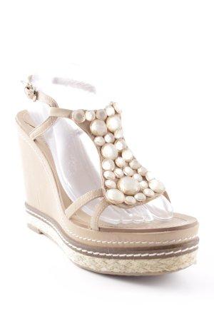 bagati Wedge Sandals beige-oatmeal elegant