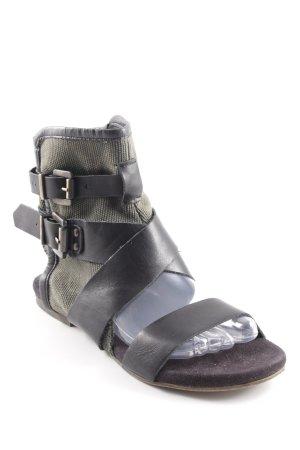 Bagatt Sandalias para uso en exteriores negro-ocre look casual