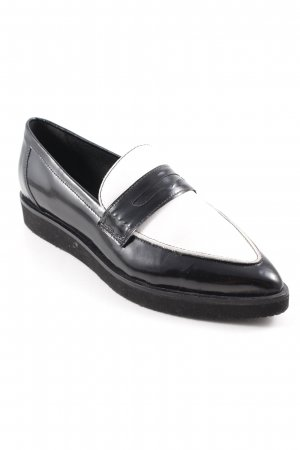 Bagatt Slippers black-white color blocking elegant