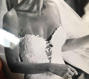 Badgley Mischka Robe de mariée blanc cassé-blanc