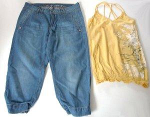 Baggy Boyfriend Jeans Capri 28 Sommer Denim Helles Blau ungetragen