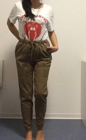 Baggy Hose mit Gummibund Zara