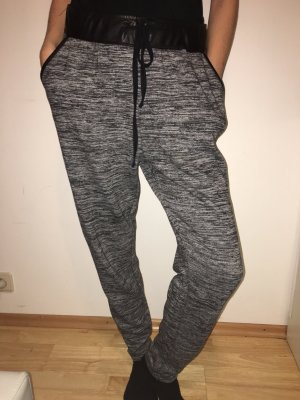 Pantalone largo antracite-nero