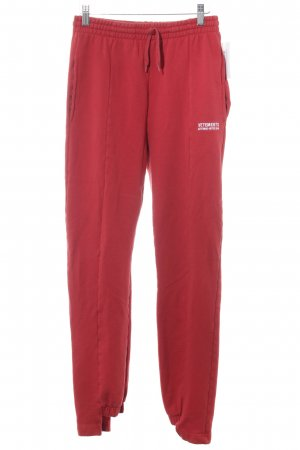 Pantalon «Baggy» rouge style décontracté
