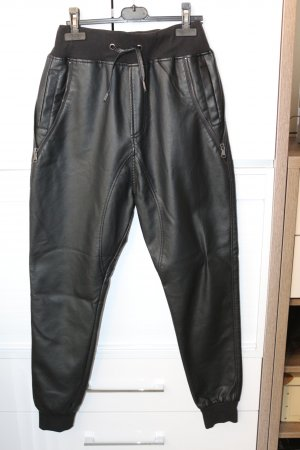 UrbanClassics Baggy Pants black imitation leather