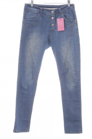 Jeans larghi blu fiordaliso stile casual