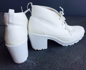 Bianco Lace-up Booties white