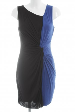 Bailey44 Jersey Dress black-blue color blocking party style