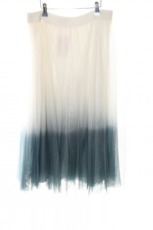 Bailey44 Tulle Skirt white-turquoise color gradient party style