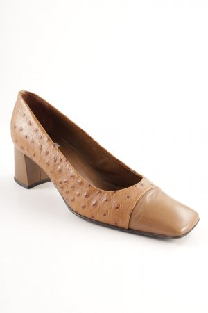 Baldan Mary Jane Pumps beige Punktemuster Business-Look