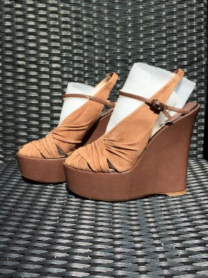 Baldan Wedge Sandals light brown-brown leather