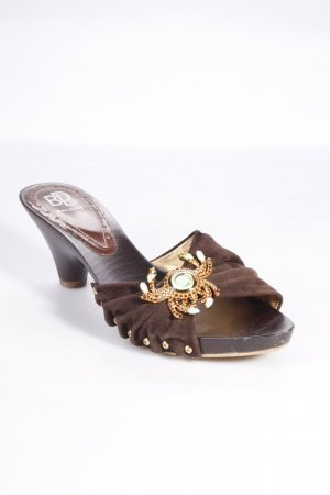 Baldan High-Heeled Sandals black brown-brown