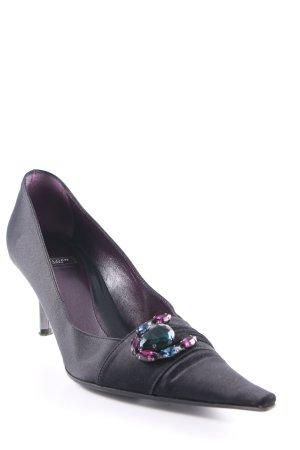 Baldan Zapatos de punta negro-violeta amarronado elegante