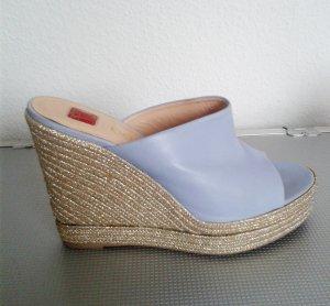 Baldinini Sandalo azzurro-oro Pelle
