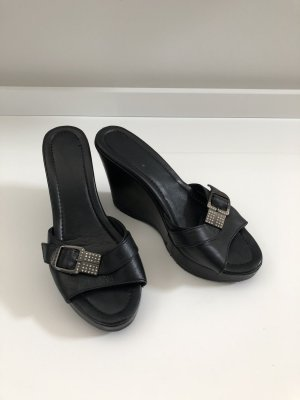 Baldinini Sandalo con tacco nero-argento Pelle