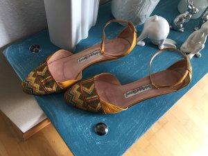 Baldinini Sandalo con cinturino giallo-oro-marrone chiaro