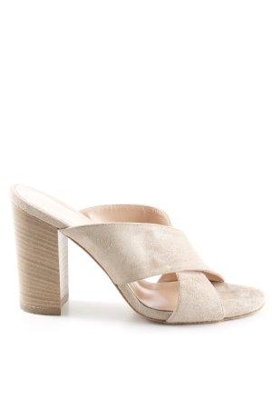 Baldinini Sandalias de tacón alto beige claro estilo sencillo
