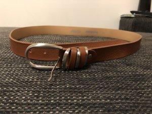 Baldinini Leather Belt brown-cognac-coloured leather