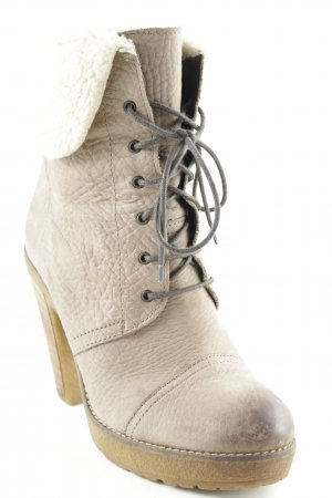 Baldinini Plateau-Stiefeletten graubraun-wollweiß Street-Fashion-Look