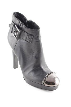 Baldinini Reißverschluss-Stiefeletten schwarz extravaganter Stil