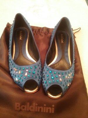 Baldinini Outdoor Sandals blue leather