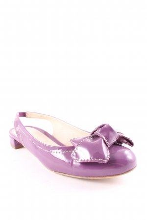Baldinini Ballerine à bride arrière violet style décontracté