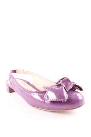 Baldinini Slingback Ballerinas violet casual look